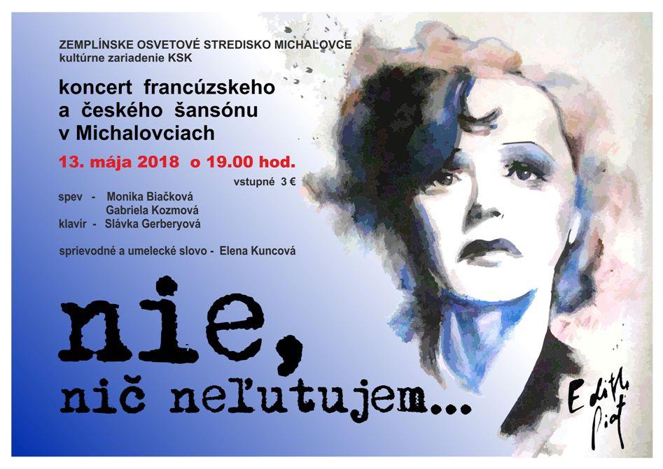 MICHALOVCE: Večer venovaný najväčšej svetovej šansonierke Edith Piaf